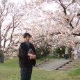 葉桜のお花見