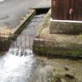 台風のあとの地噴水