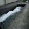 自宅近所の水源地から水を放流