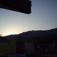 お正月の四国山脈の日の出
