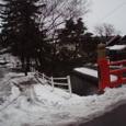 大雪の1月22日の西条高校