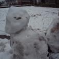 市内にもたくさんの雪だるまさん