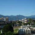 四国山脈の夏!!家からみた石鎚です