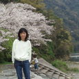 桜と私 武丈公園で
