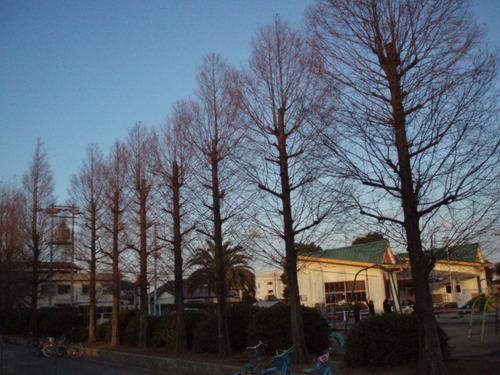 お正月の児童公園