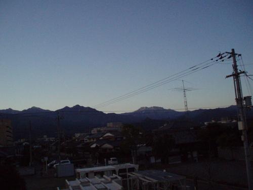 お正月の四国山脈の日の出 石鎚