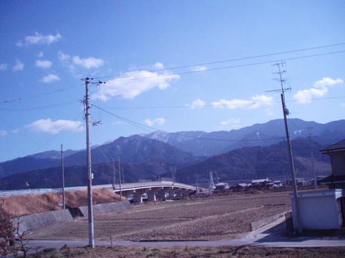 2月の石鎚連峰や四国山脈